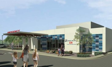 Spring Valley Hospital freestanding ER rendering